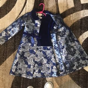 Royal Blue and Silver 2 pc girls dress